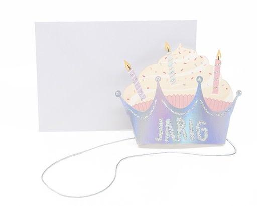 Enfant Terrible Enfant Terrible crown + enveloppe 'Cupcake - jarig'