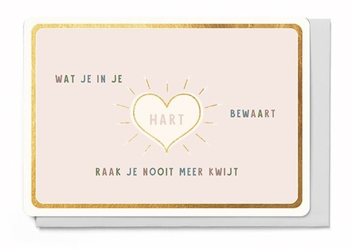 Enfant Terrible Enfant Terrible card + enveloppe 'Wat je in je hart bewaart'