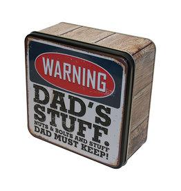 Grandma Wild's Embossed Dad's stuff tin (160 gr.)