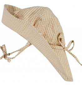 Wheat Baby girl sun hat - taffy stripe