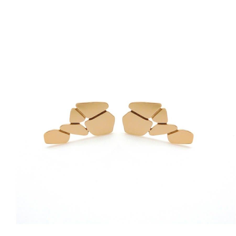 Nadja Carlotti Silver earrings Cascade