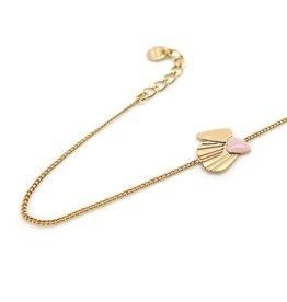 Nadja Carlotti Silver bracelet Shell - Vieux rose