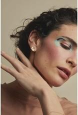 Nadja Carlotti Silver earrings Shell - Petrol