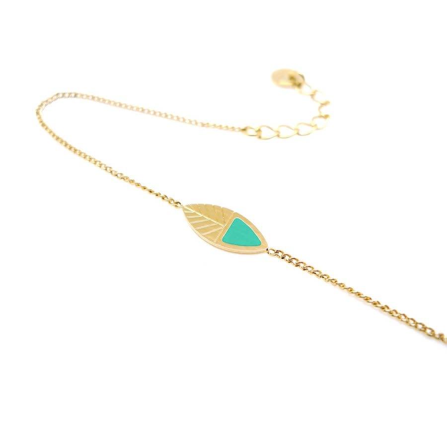 Nadja Carlotti Silver bracelet Leaf - Ocean