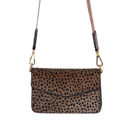With love Bag jungle spots -  brown 18cm x 12cm x 2.50 cm