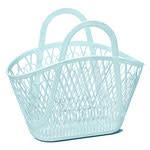 Sun Jellies Betty basket - blue 45x40x22cm
