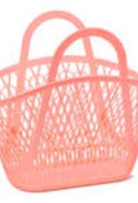 Sun Jellies Betty basket - peach 45x40x22cm