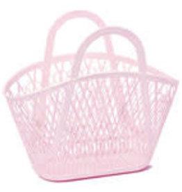 Sun Jellies Betty basket - pink 45x40x22cm
