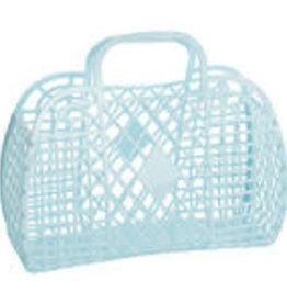 Sun Jellies Retro basket large - blue 35x30x14cm
