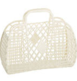 Sun Jellies Retro basket large - cream 35x30x14cm