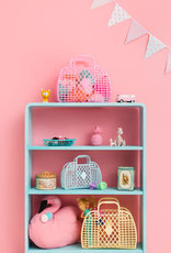 Sun Jellies Retro basket large - mint 35x30x14cm