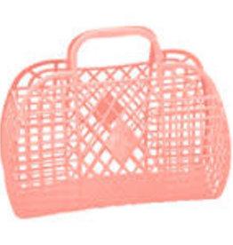 Sun Jellies Retro basket large - peach 35x30x14cm