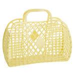 Sun Jellies Retro basket large - yellow 35x30x14cm
