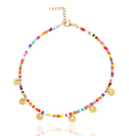 With love Anklet with coins /  gold-colour (RVS)