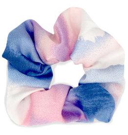 With love Scrunchie Silk Pink-Blue