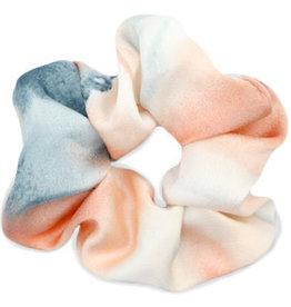 With love Scrunchie Silk Peach-Blue