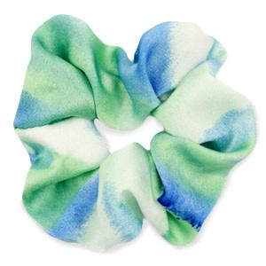With love Scrunchie Silk Green-Blue