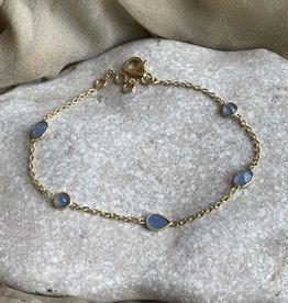 Katwalk Silver Silver bracelet gold plated - blue stones