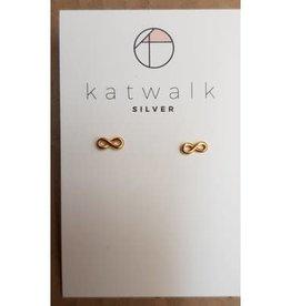 Katwalk Silver Silver earrings gold plated - infinity (SEMG24573)