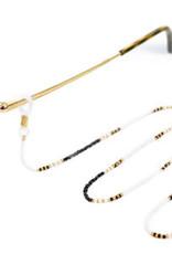 With love Sunglasses cord black - white 80 cm x 2.5 mm