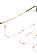 With love Sunglasses cord gold - white - pink 80 cm x 2.5 mm