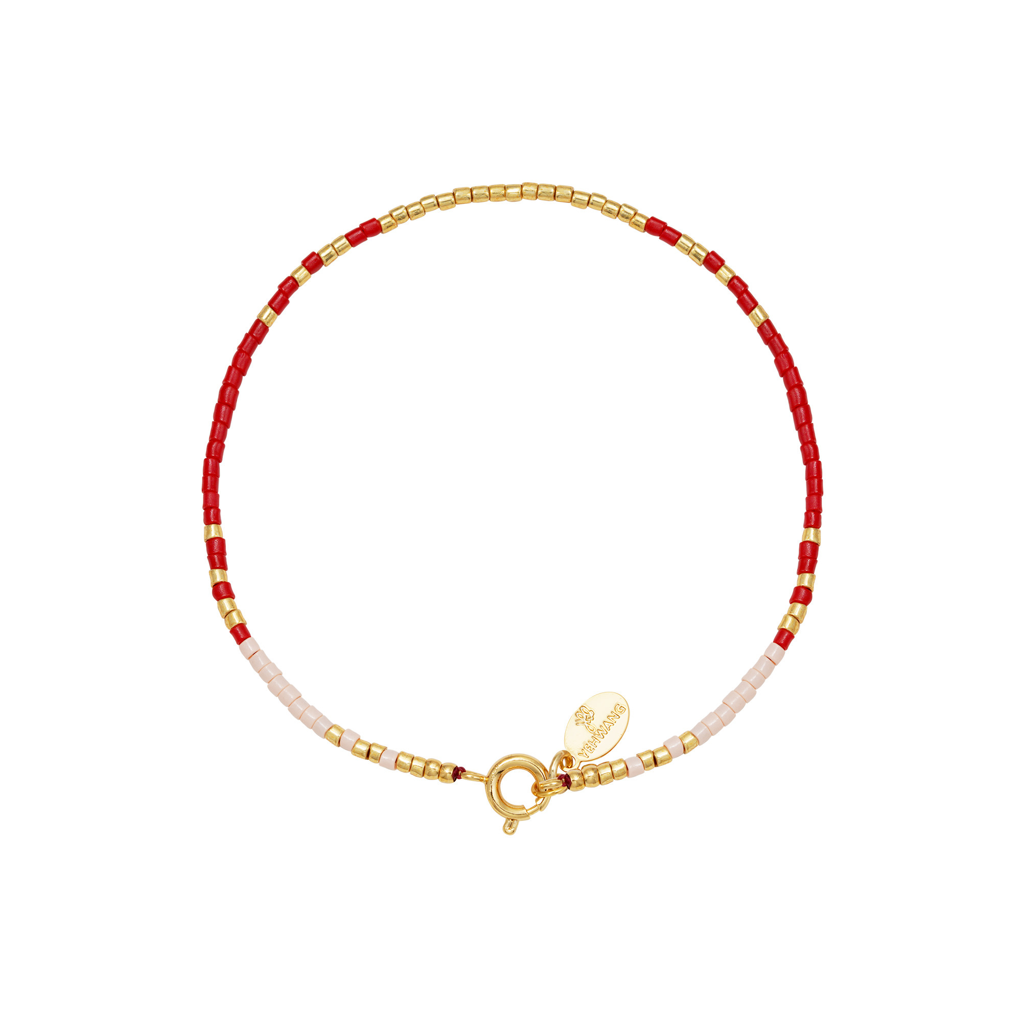 With love Bracelet delicate red