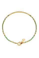 With love Bracelet delicate green