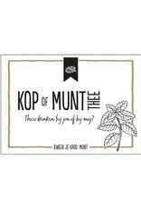 100 % Leuk Kop of MUNT thee