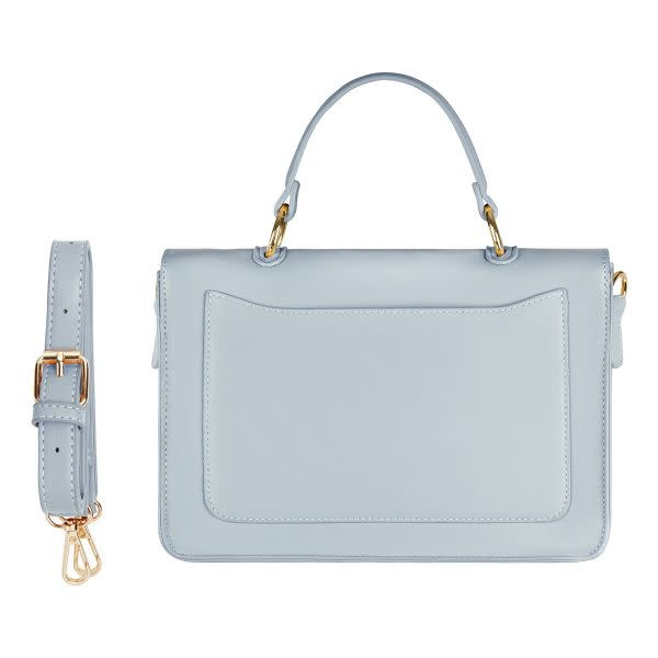 With love Bag with handle and strap - light blue 26cm x 18cm x 8cm