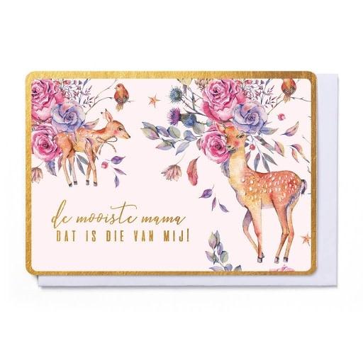 Enfant Terrible Enfant Terrible card + enveloppe 'De mooiste mama, dat is die van mij!'
