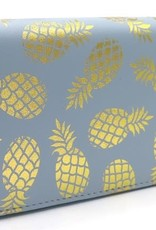 With love Wallet pineapples - light blue 19 x 10 cm