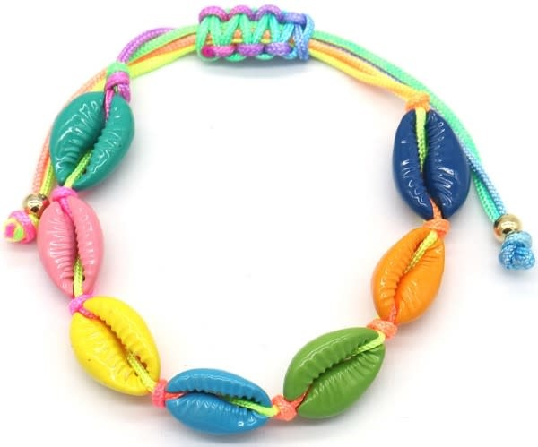 With love Bracelet multi colored shells