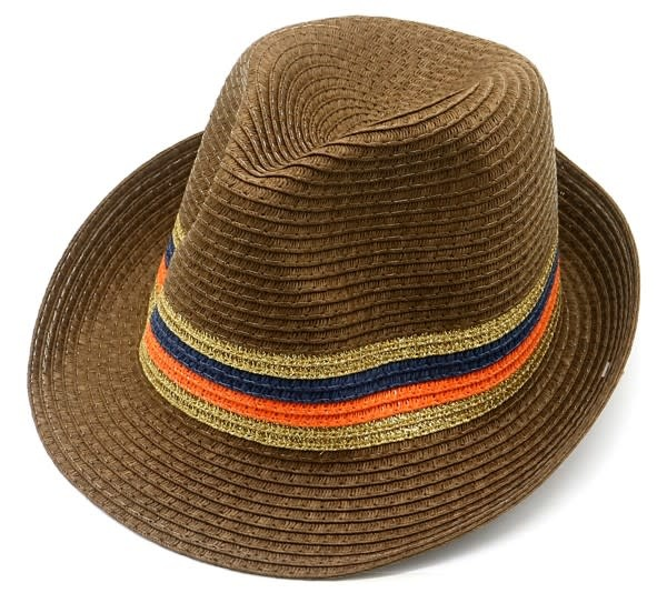 With love Summer hat brown