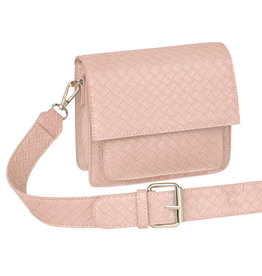 With love Bag braided  Pink 18cm x 15cm