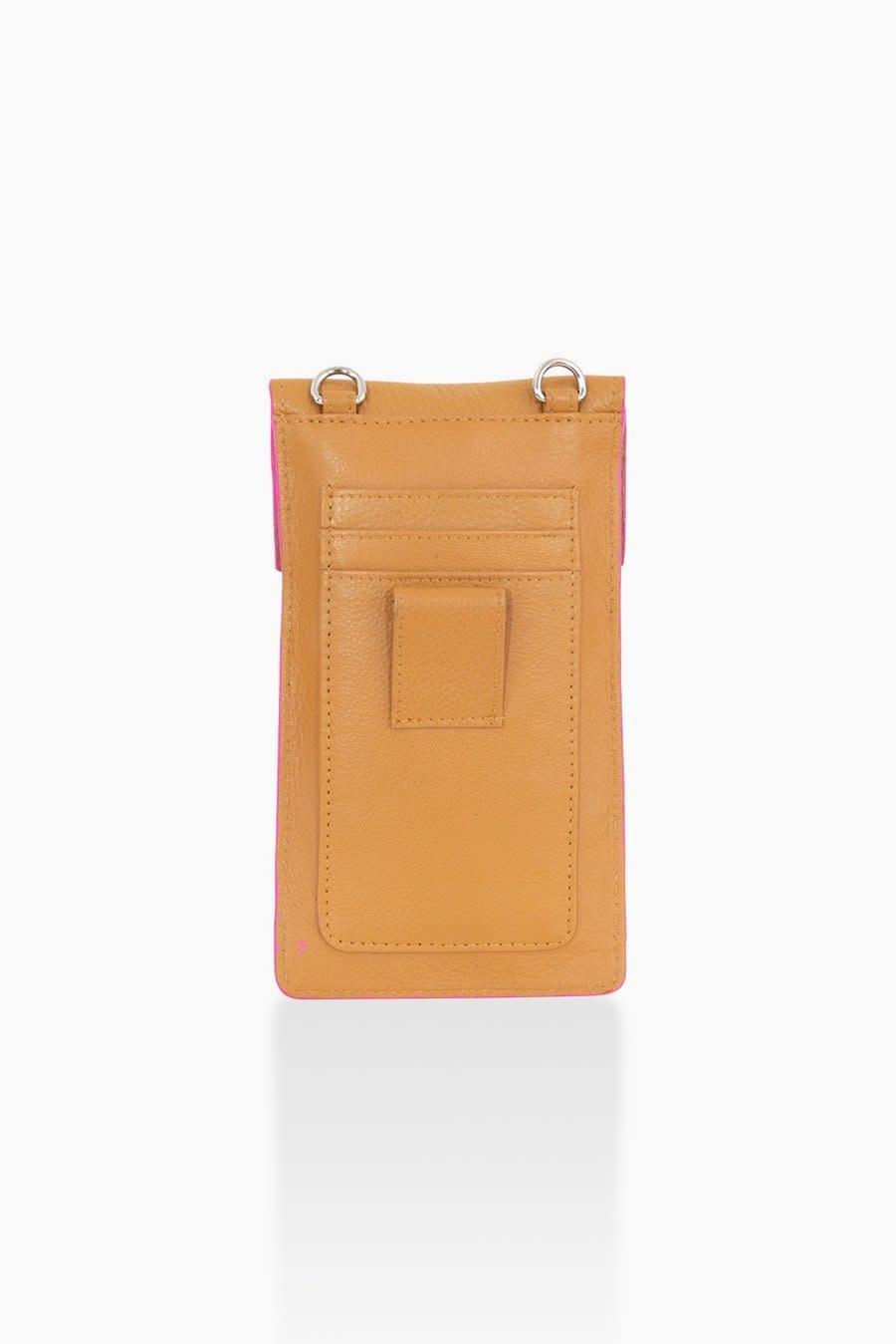 Détail Détail Charm phone bag - caramel 10 x 19 cm