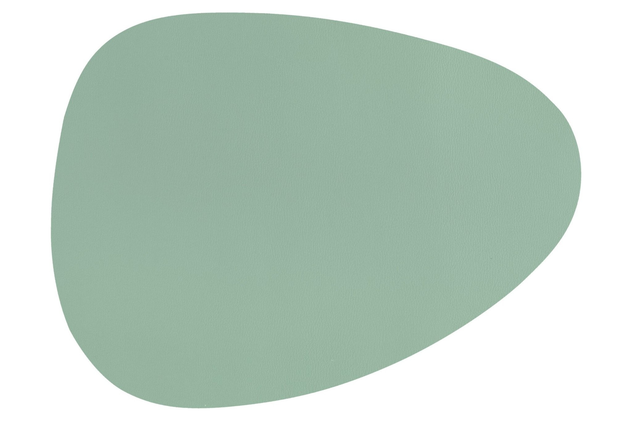 Placemat mint green leather look 32 x 43 cm