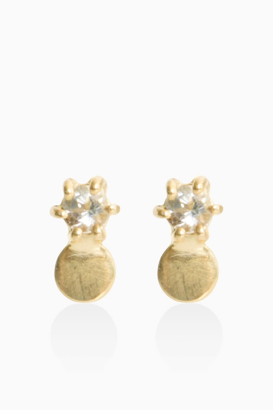 Détail Earrings Frederique green amethyst gold plated (8687)
