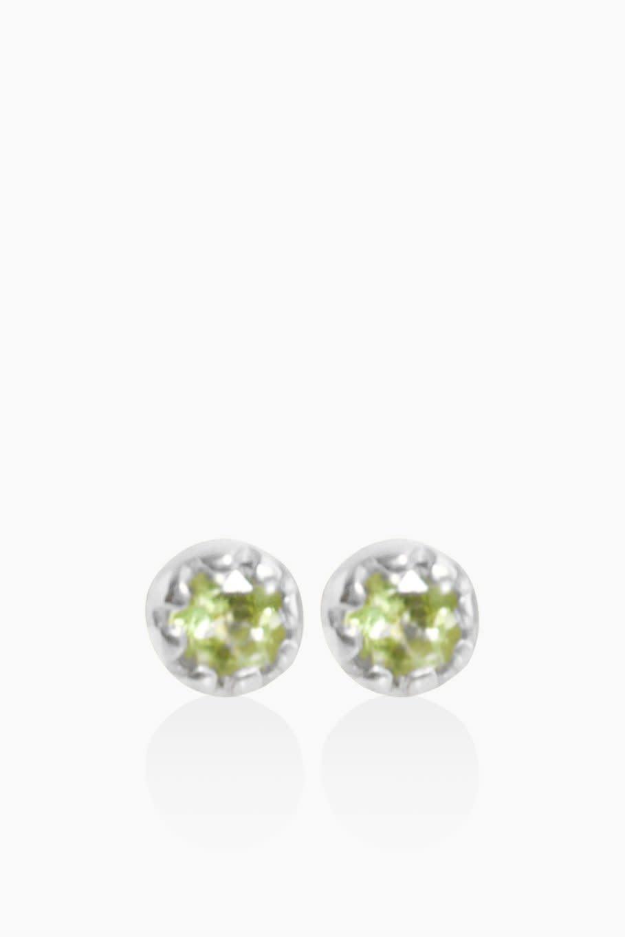 Détail Earrings Heike green turmaline silver (8933)