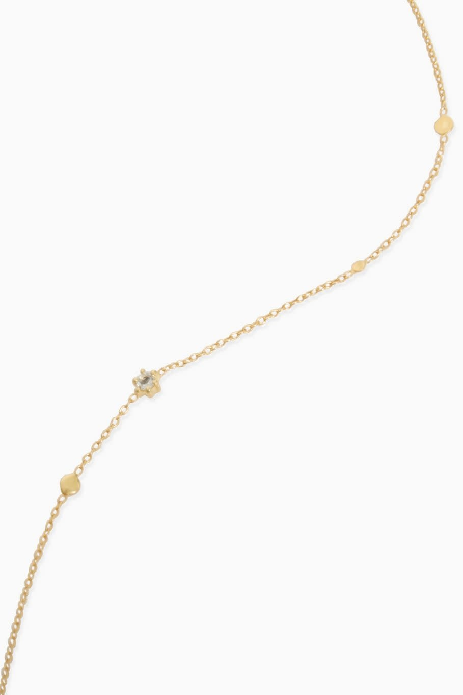 Détail Necklace Michelle green amethyst gold plated (8681)