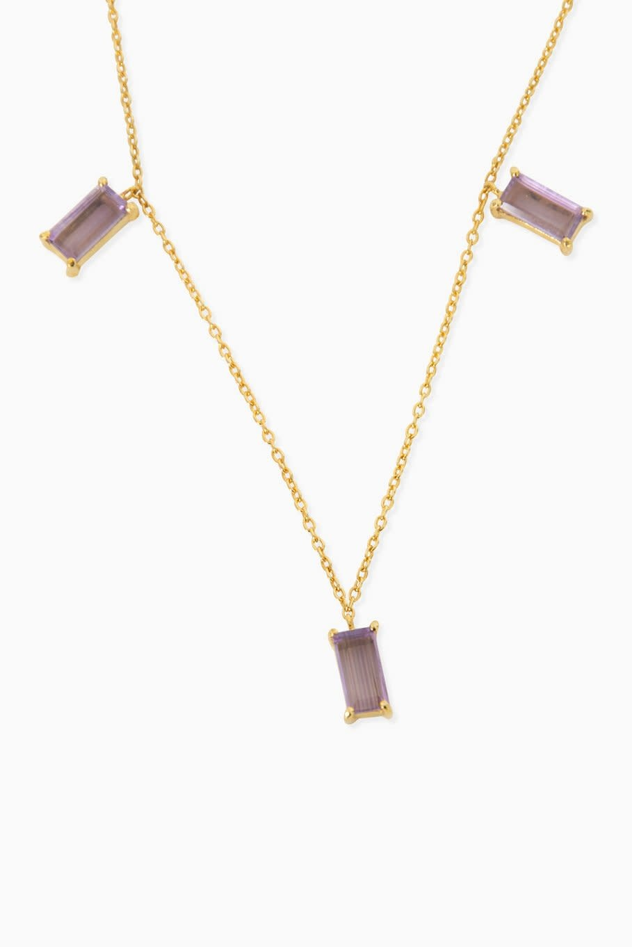 Détail Necklace Joley amethyst gold plated
