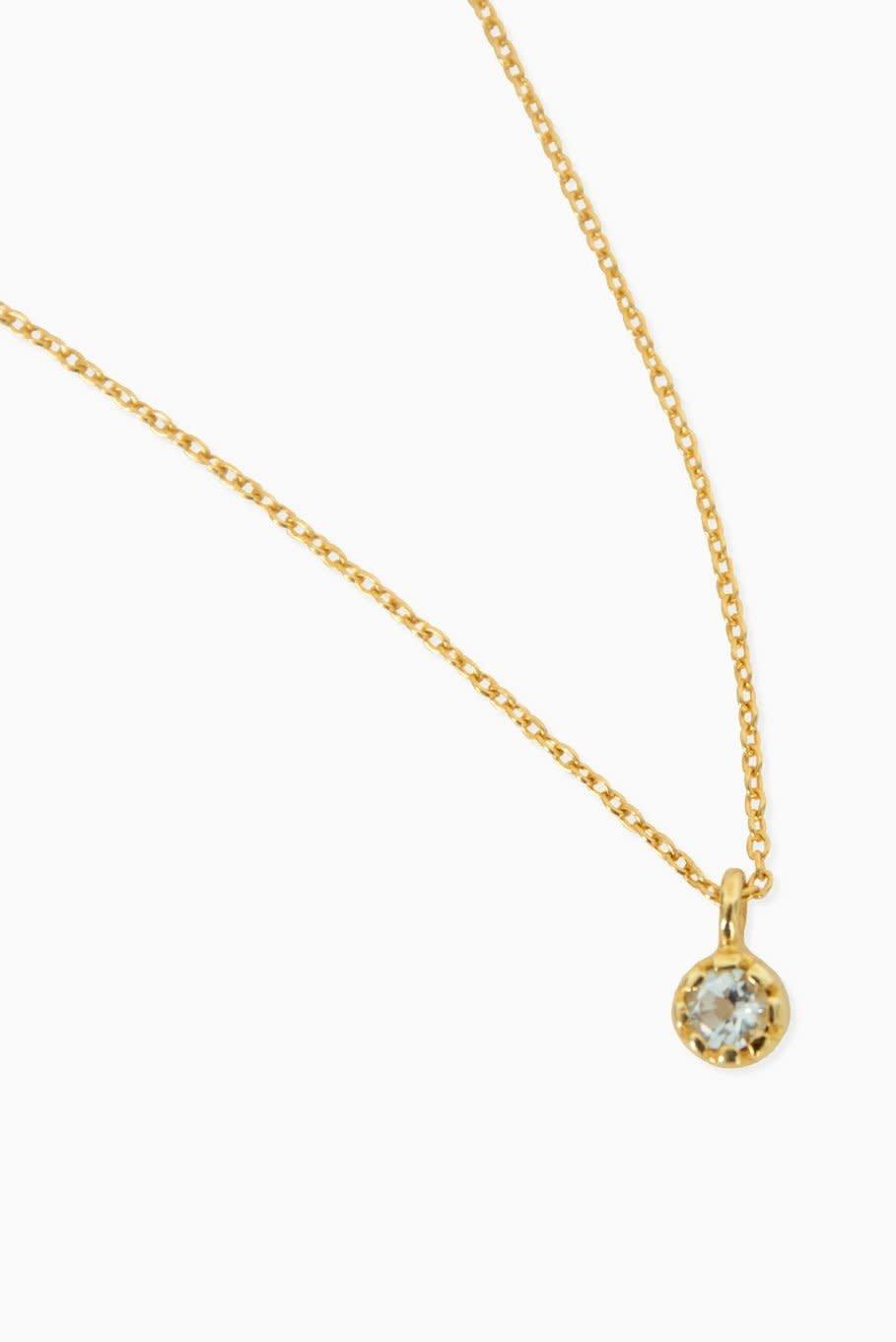 Détail Necklace Heike aqaumarine gold plated (8859)