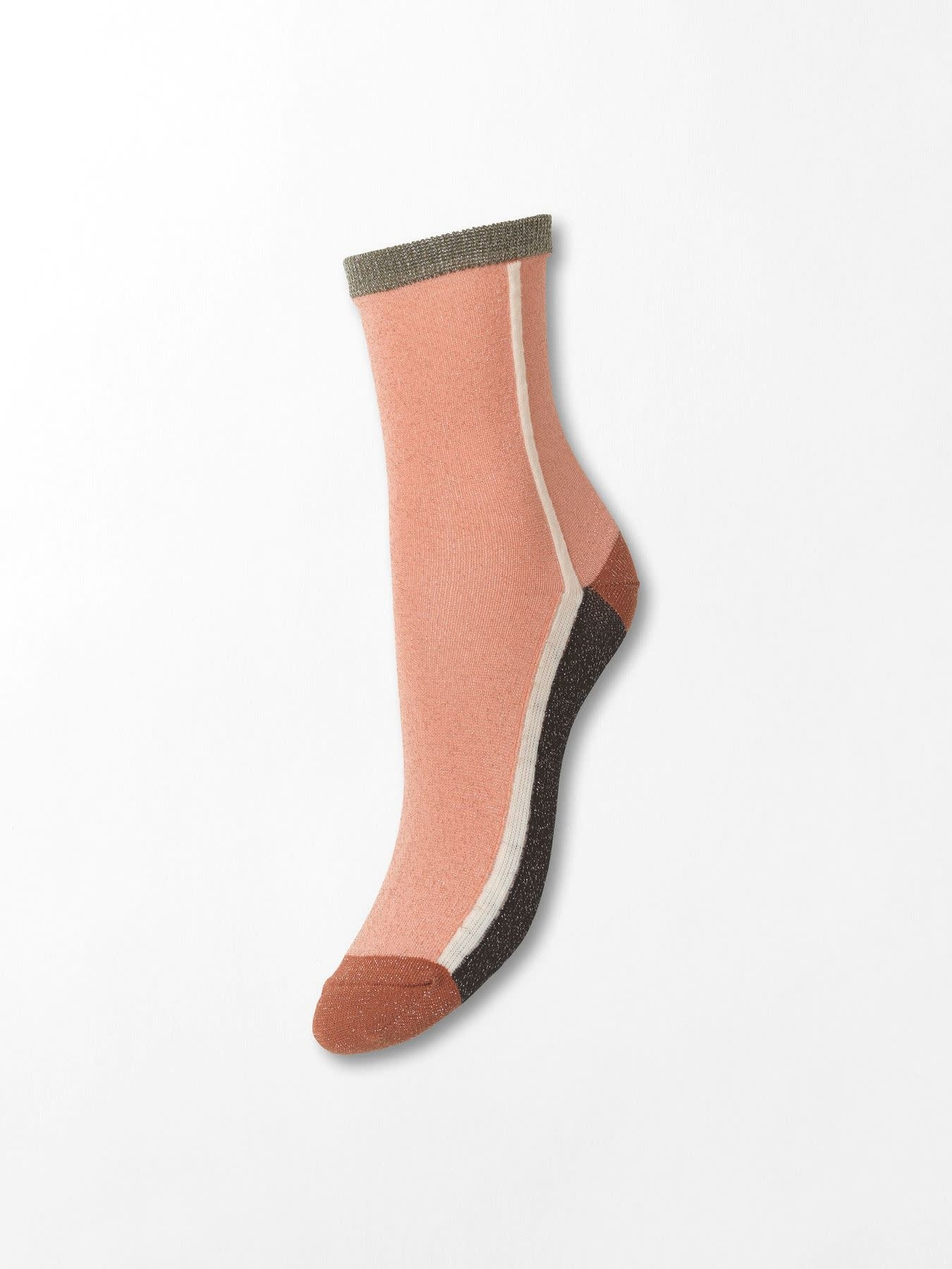 Beck Söndergaard Dean summerblock socks - Dusty pink 39/41
