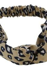 With love Headband Leopard Print Light Brown