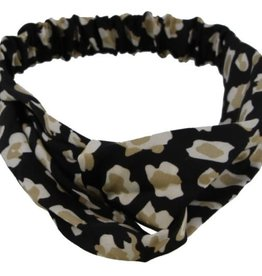 With love Headband Leopard Print Black