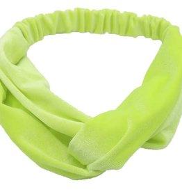 With love Velvet Headband Yellow