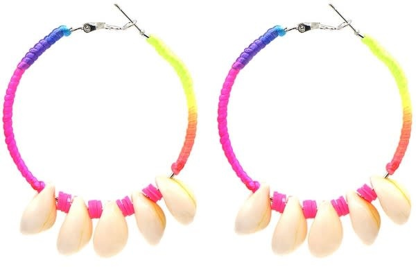 With love Earrings 5.5cm Creoles Multi-Pink