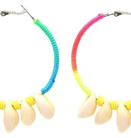 With love Earrings 5.5cm Creoles Multi-Yellow