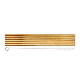 Legami Set of 6 stainless steel straws - Standard size
