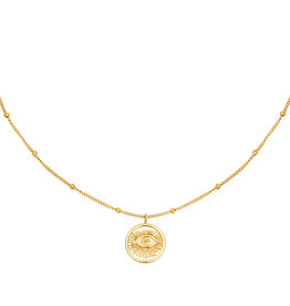 With love Necklace Magic eye gold