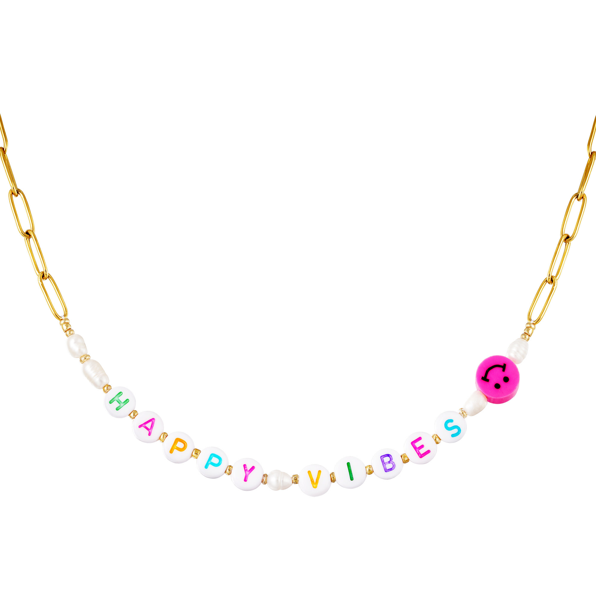 With love Necklace Happy vibes